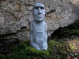 easter island statue concrete moai statues garden decor easter island head