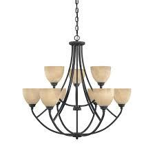 designers fountain manhattan 9 light burnished bronze hanging chandelier