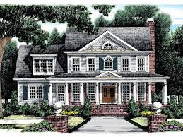 Colonial House Plans at Dream Home Source   Colonial House Floor PlansTemp