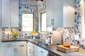 unique kitchen design ideas backsplash glass tile