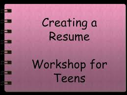 Resume For Teens Unique Resume Writing For Teens
