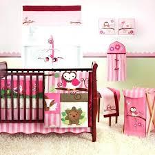 inspiring pink owl crib bedding set home inspirations design cute baby girl comforter sets