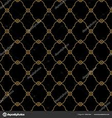Seamless Black Gold Fancy Background Pattern Classy Texture Vector