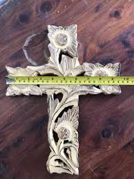 large wooden cross rustic country biblical church love catholic crucifix