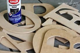 large wooden letters 101 craft ideas