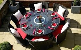 round patio dining table outdoor furniture set for 8