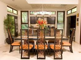 brown dining room decor. inspiring tropical house for vacation in costa rica jungle : with white wall and wooden dining brown room decor