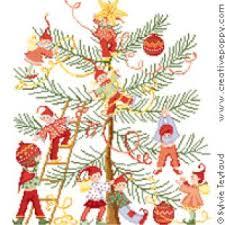 Decorating The Christmas Tree Cross Stitch Pattern By Sylvie Teytaud