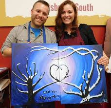 painting with a twist pittsburgh south pa had their first wedding proposal