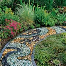 garden pathway. Pathways Make A Nice Finishing Touch To Any Garden Or Landscaping Project, Adding Interest, Functionality, And Organization. Pathway