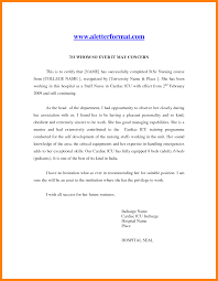 Ideas Of Recommendation Letter Sample For Staff Nurse On Resume