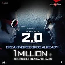 ticket sales records bookmyshow clocks 1 million advance ticket sales for 2 0
