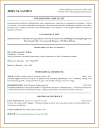 Phlebotomist Resume Awesome Beautiful Sample Cover Letter For Phlebotomist With No Experience