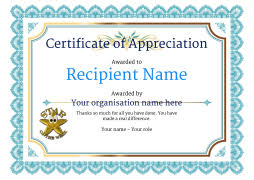 Certificate Of Appreciate Certificate Of Appreciation And Thank You Free And Simple