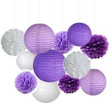 Purple Balls For Decoration Mesmerizing Amazon Fascola Pack Of 32 Lavender Dark Purple White Paper