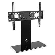 tv table stand. universal flat tv table top stand mount foot on or furniture for led, lcd tv