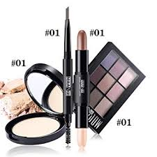 amazon fantasyday 4pcs makeup gift set makeup bundle beauty essentials starter makeup kit including face powder eyebrow pen highlighter makeup