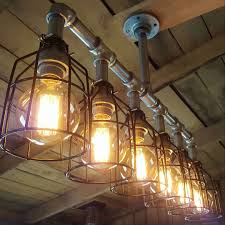 industrial lighting chandelier. Industrial Lighting · Check Out Our Rustic Galvanized Chandelier! New Photos Showing Cage Options! Chandelier N