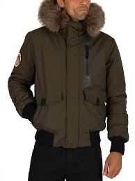 Superdry Everest Bomber Jacket Army Khaki