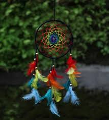 Dream Catcher To Buy Mesmerizing Buy Rooh Multicolour Wool Healing Chakras Dream Catcher Online