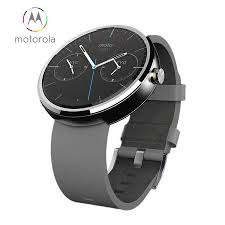 motorola smartwatch. motorola moto 360 smartwatch - grey leather smartwatch