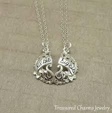 big sister charm necklace set
