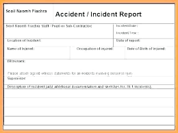 Construction Incident Report Template Free Word Format