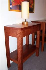 red hallway table. red gum hall table 800w x 350d 780h hallway