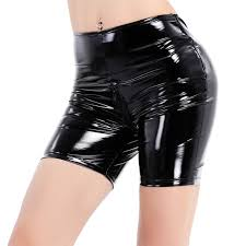 set include 1x shorts condition new with tag material patent leather spandex color black as pictures show