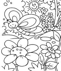 Small Picture Spring Coloring Pages For Toddlers Coloring Coloring Pages