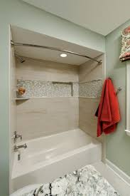 wonderful bathtub tile surround ideas on garden way to around bath made kits how front remodel shower edge mosaic detail adds pop visual interest