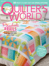 Shop for Quilter's World Magazine & Quilter's World Spring 2018 Adamdwight.com