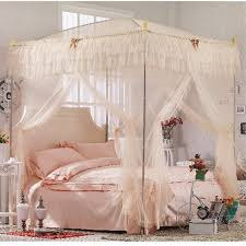 Girls King Size Canopy Bed With Curtains : Eegloo King & Queen - Set ...