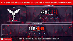 Youtube Logo Templates Top 10 Free Youtube Banner Template Logo Twitter Header Template Free Download