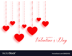 white valentines day vector image