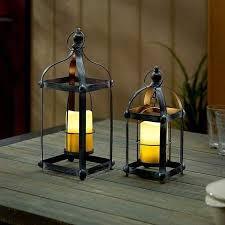 bradford metal lantern set