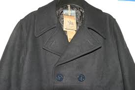 men s spiewak dugan wool blend peacoat double ted military navy style nwt