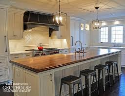 distressed solid wood island countertops made of walnut