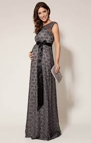 Daisy Maternity Gown Long Black And Silver Maternity Wedding