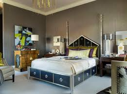 Retro Style Bedroom Amazing Interior Paints Schemes For Bedroom With Grey Themed And