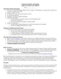 descriptive essay introduction descriptive writing assignment