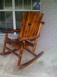 outdoor wooden rocking chairs rustic