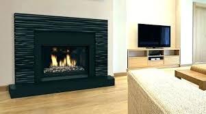 brick fireplace surround black painted