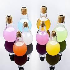 Light Bulb Drink Bottle Bulb Bottle 4 Pack