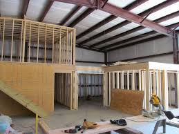 Barn House Interior The Inside Framing Of A Metal Building Converted Into A Home My