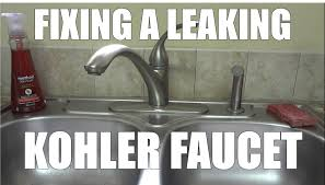 Kohler Kitchen Faucet Leaking Fixing A Leaking Faucet By Replacing The Oring And Cartridge From