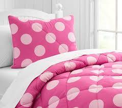 bright pink cozy dot comforter kids
