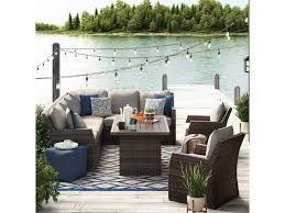 Outdoor sectional Black Signature Design By Ashley Sandpiperoutdoor Sectional With Table Lounge Chairs Belfort Furniture Sandpiper Outdoor Sectional With Table Lounge Chairs Belfort