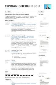 Management Consultant Resume Samples Visualcv Resume Samples