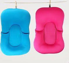 generic baby bath tub pillow pad lounger air cushion floating soft seat infant newborn
